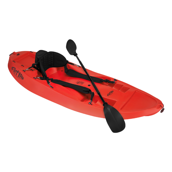 Surf Kayak with Seatback & Paddle Red